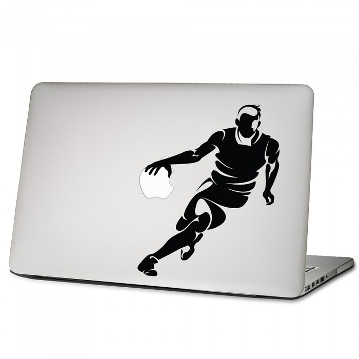 basketball player laptop macbook sticker aufkleber. Black Bedroom Furniture Sets. Home Design Ideas