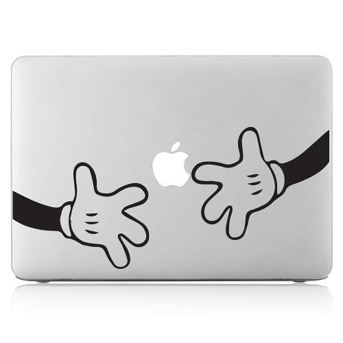 Hands Micky Laptop Macbook Vinyl Decal Sticker