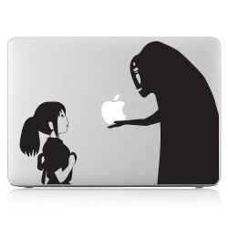 Spirited Away Gift from No Face Man Laptop / Macbook Vinyl Decal Sticker