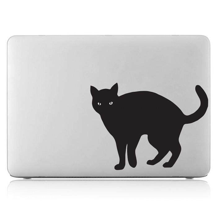 Black cat Laptop / Macbook Vinyl Decal Sticker (DM-0465)