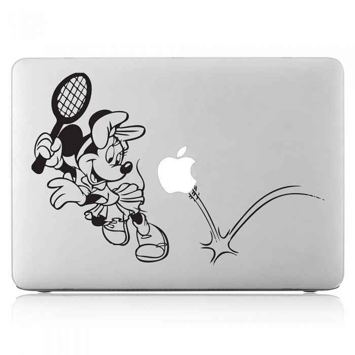 Minnie Mouse playing tennis Laptop / Macbook Vinyl Decal Sticker (DM-0469)