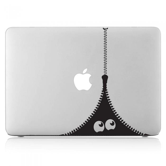 Zipper Monster Laptop / Macbook Vinyl Decal Sticker (DM-0477)