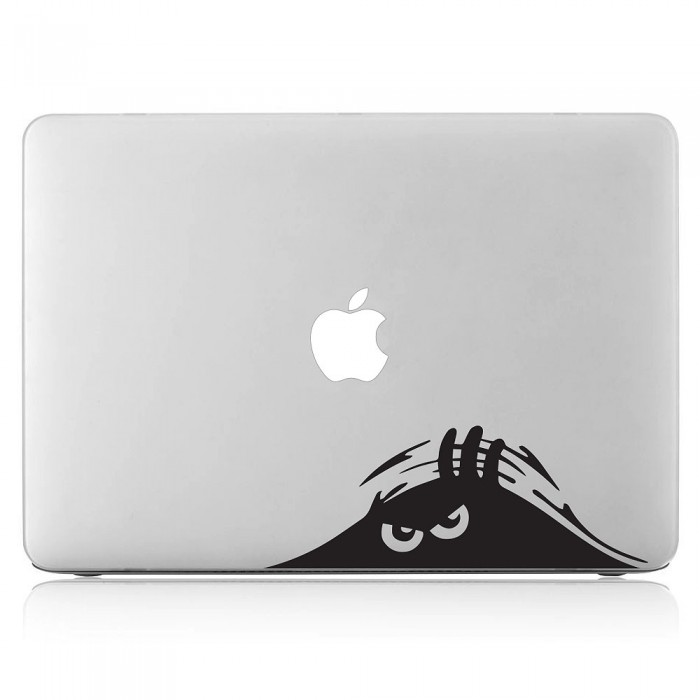 Evil Peeping Peek Boo Monster Funny Laptop / Macbook Vinyl Decal Sticker (DM-0483)