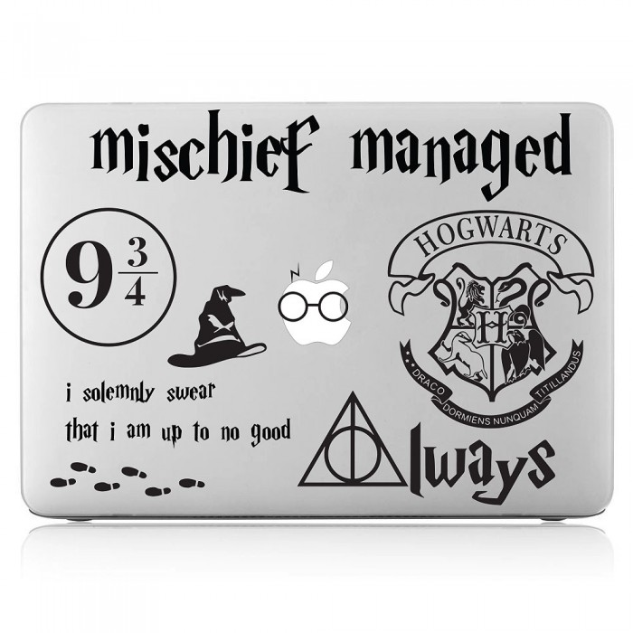 Harry Potter Mischief Managed Laptop / Macbook Vinyl Decal Sticker (DM-0489)