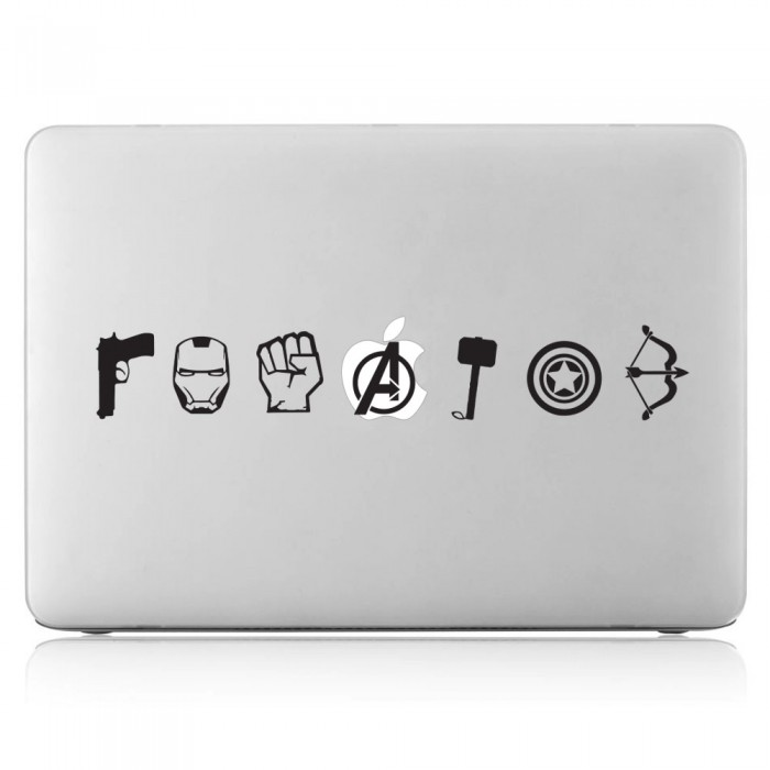 The Avengers Icon Laptop / Macbook Vinyl Decal Sticker (DM-0501)