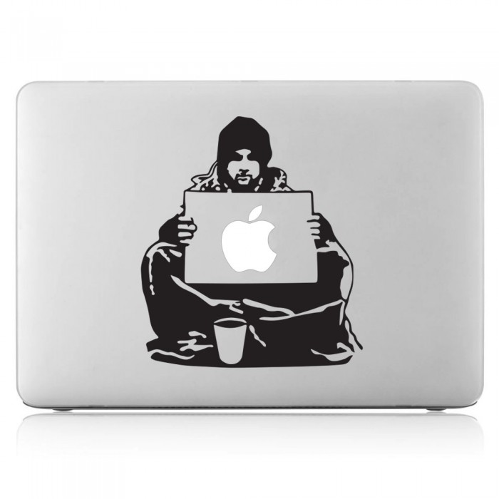 Banksy keep your coins i want change Laptop / Macbook Vinyl Decal Sticker (DM-0505)