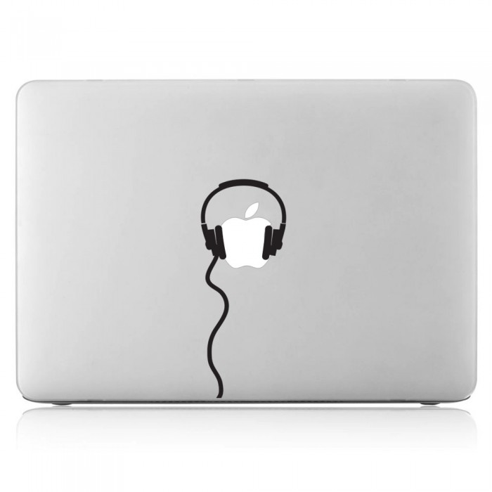 Headphone Laptop / Macbook Vinyl Decal Sticker (DM-0514)