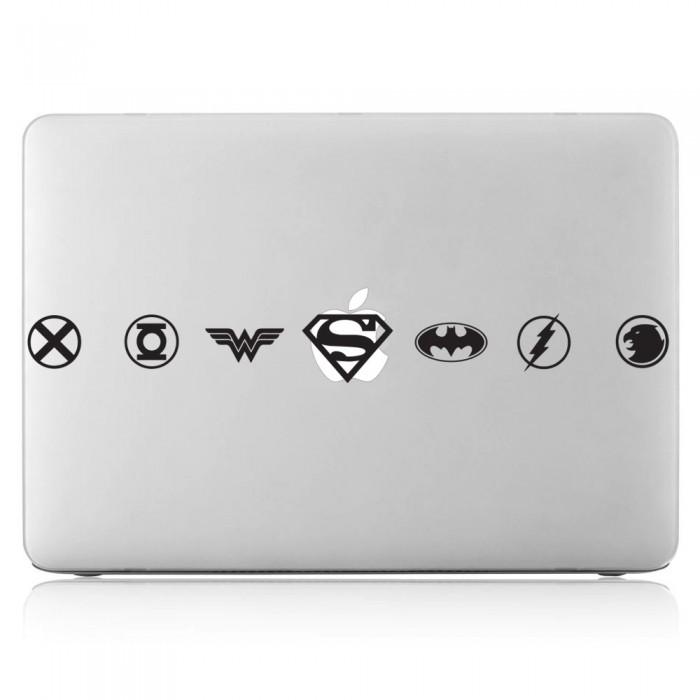 Justice League Superheroes Logo Laptop / Macbook Vinyl Decal Sticker (DM-0520)