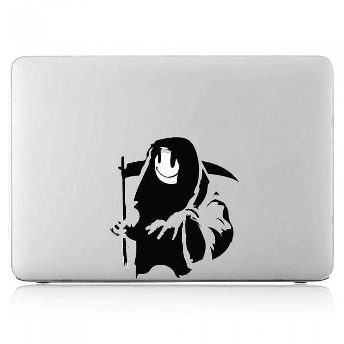 Grim Reaper Smiley Face Laptop / Macbook Vinyl Decal Sticker (DM-0537)
