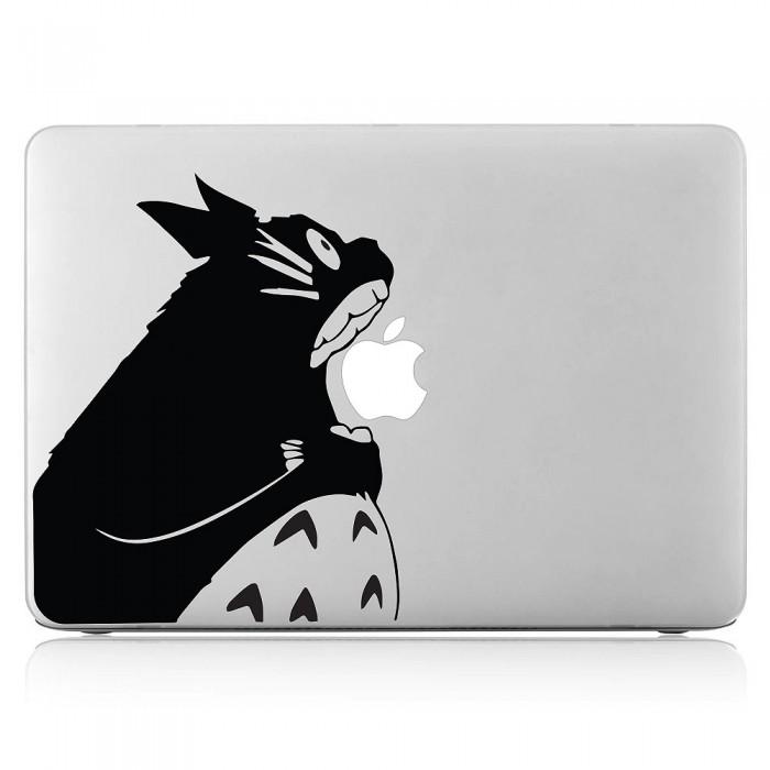 Totoro eatting Apple My Neighbor Totoro Laptop / Macbook Vinyl Decal Sticker (DM-0539)