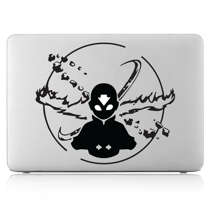 Avatar the last airbender aang laptop macbook vinyl decal sticker