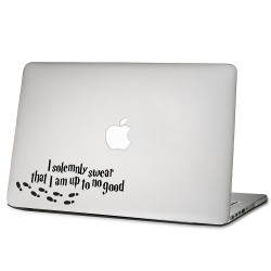 I Solemnly Swear That I Am up to No Good Harry Potter Laptop / Macbook Vinyl Decal Sticker