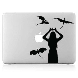 Daenerys Targaryen with Dragon Laptop / Macbook Vinyl Decal Sticker