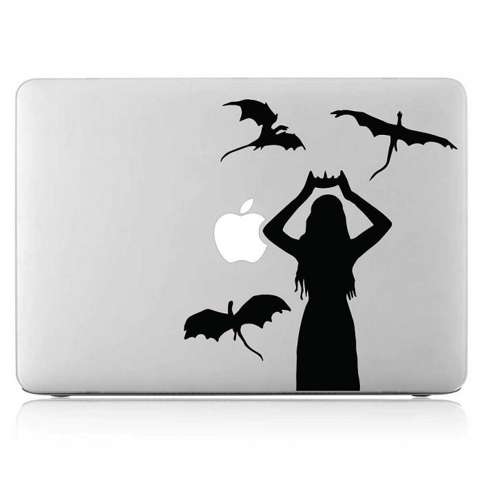 Daenerys Targaryen with Dragon Laptop / Macbook Vinyl Decal Sticker (DM-0550)