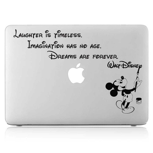 Dream are forever Mickey Mouse Quote Laptop / Macbook Vinyl Decal Sticker
