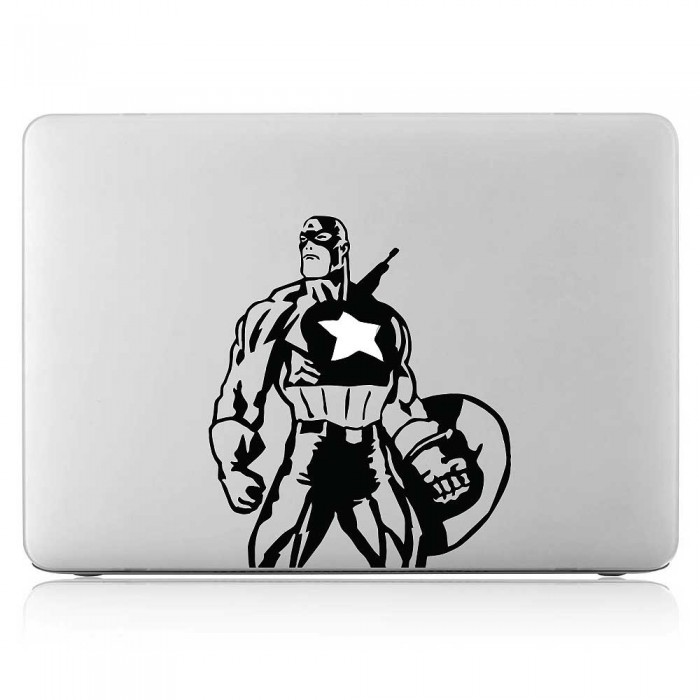 Captain America Superhero Laptop / Macbook Vinyl Decal Sticker (DM-0556)
