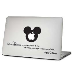 Mickey Mouse Walt Disney Quote Laptop / Macbook Vinyl Decal Sticker