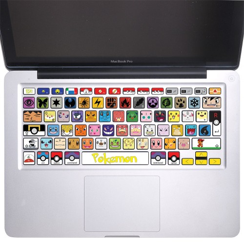 Pokemon Keyboard Stickers for MacBook