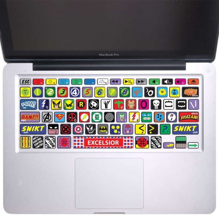 Super Hero Keyboard Stickers for MacBook (KB-0002)
