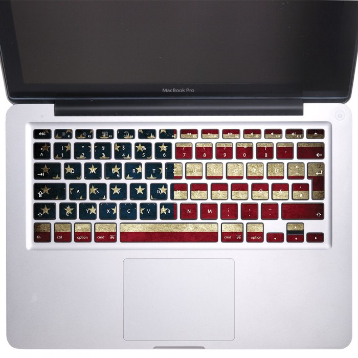 usa flag united state of america keyboard stickers for macbook. Black Bedroom Furniture Sets. Home Design Ideas
