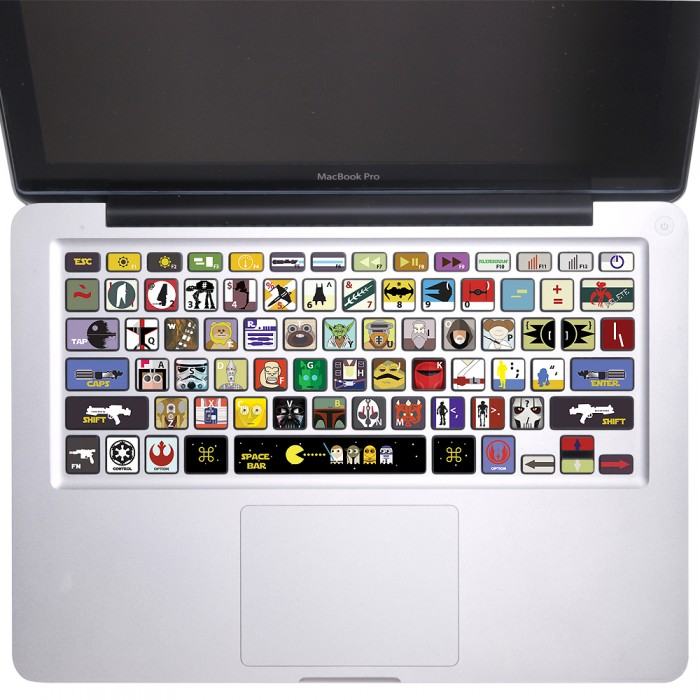 Star wars keyboard stickers for macbook