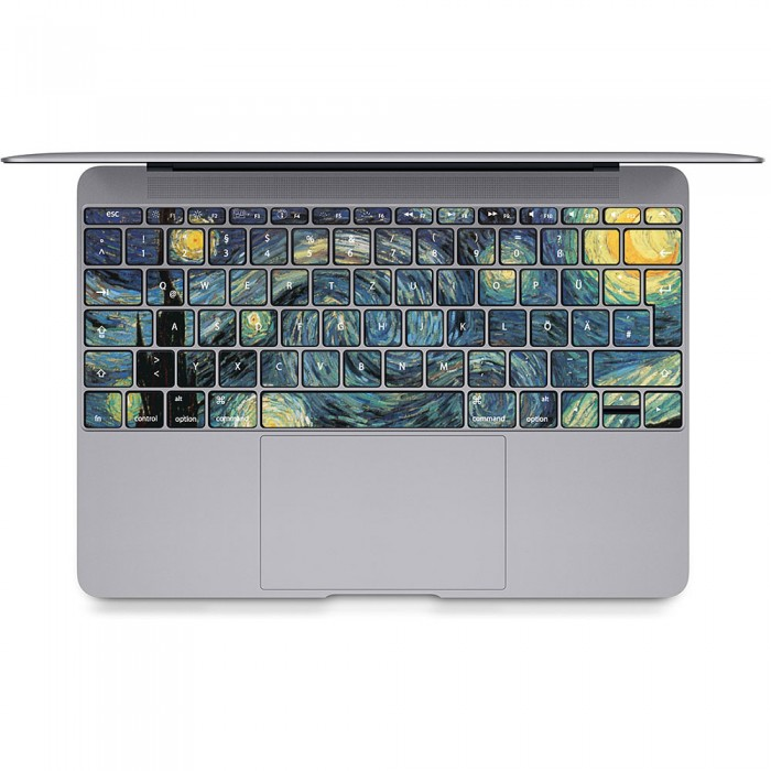 The Starry Night - Vincent Van Gogh Keyboard Stickers for