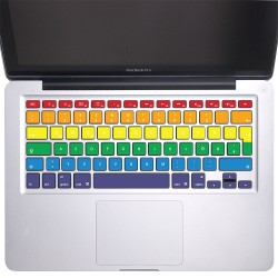 Rainbow Rows Keyboard Stickers for MacBook