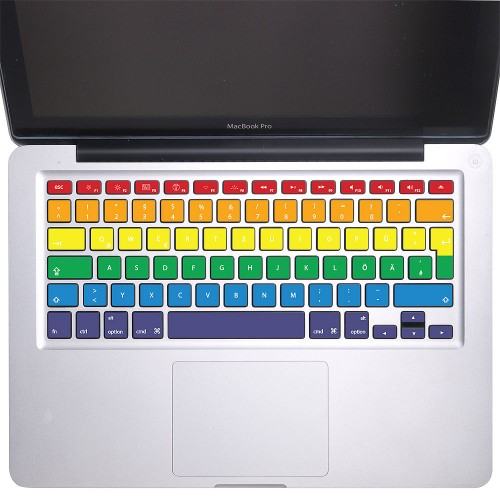 rainbow rows tastatur aufkleber f r macbook. Black Bedroom Furniture Sets. Home Design Ideas