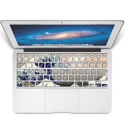 The Great Wave off Kanagawa Keyboard Stickers for MacBook