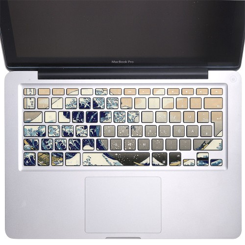 the great wave off kanagawa keyboard stickers for macbook. Black Bedroom Furniture Sets. Home Design Ideas