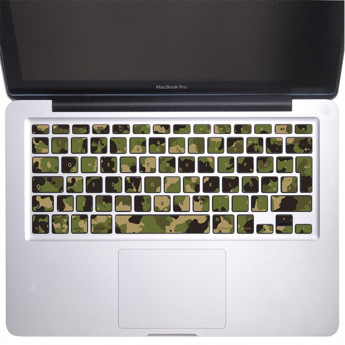 Camouflage Army Keyboard Stickers for MacBook (KB-0029)