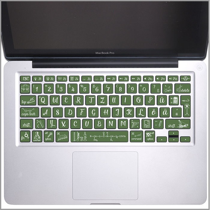 Back to School blackboard chalk keyboard Keyboard Stickers for MacBook (KB-0037)
