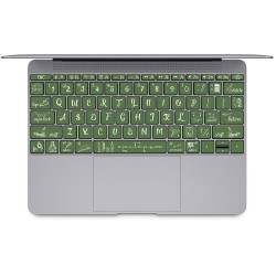 Back to School blackboard chalk keyboard Keyboard Stickers for MacBook
