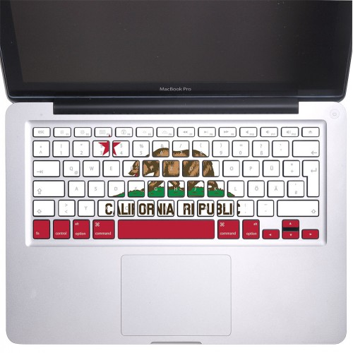 California Republic Flag Keyboard Stickers for MacBook
