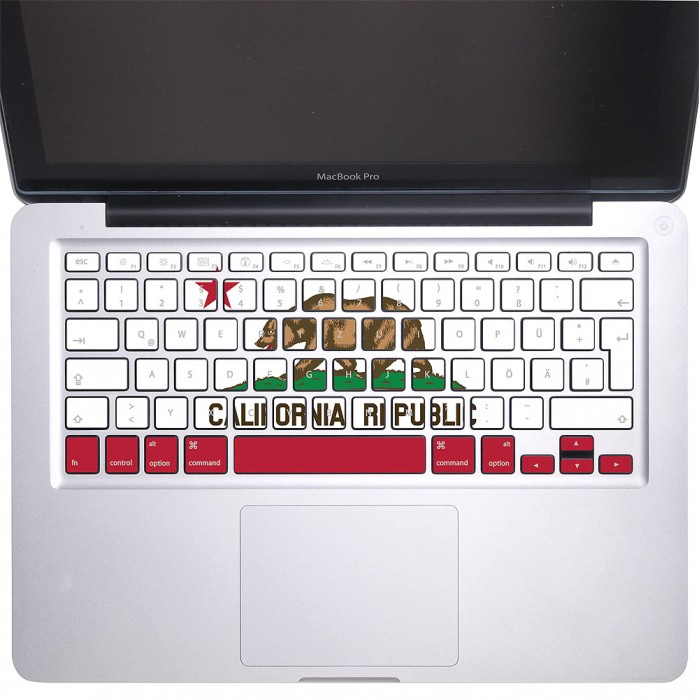 california republic flag keyboard stickers for macbook. Black Bedroom Furniture Sets. Home Design Ideas