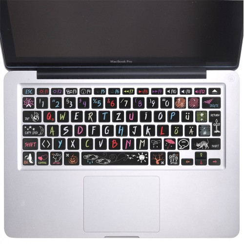 Halloween Blackbroad Keyboard Stickers for MacBook
