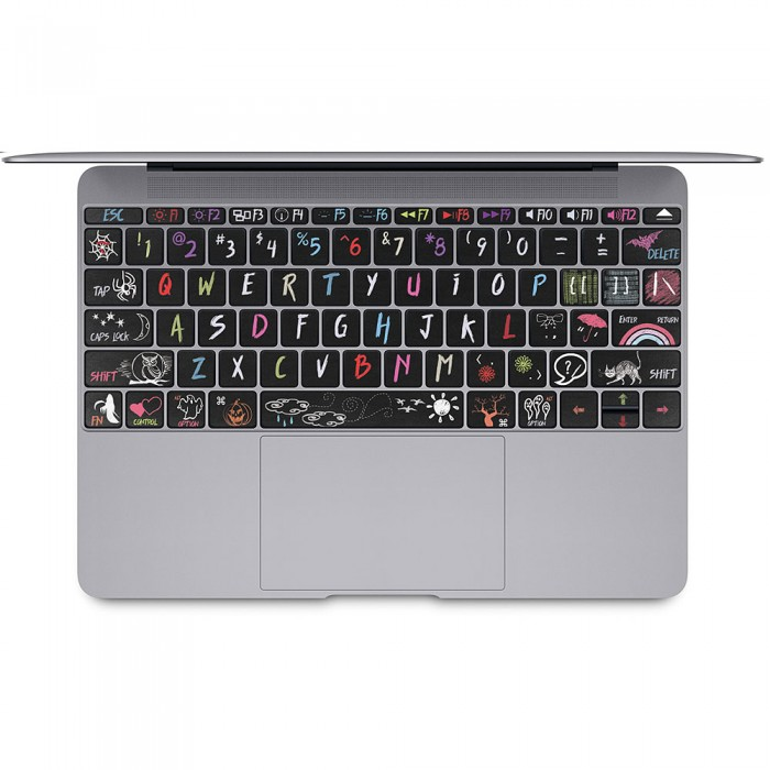 halloween blackbroad tastatur aufkleber f r macbook. Black Bedroom Furniture Sets. Home Design Ideas