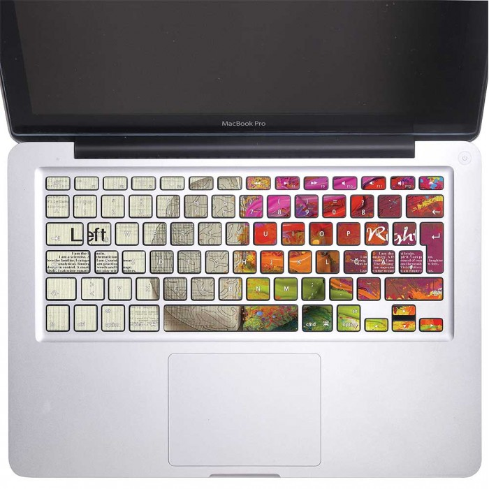 Left Right Brain Creative Keyboard Stickers for MacBook (KB-0023)