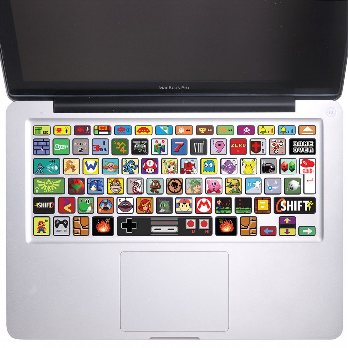Nintendo Game Keyboard Stickers for MacBook (KB-0024)