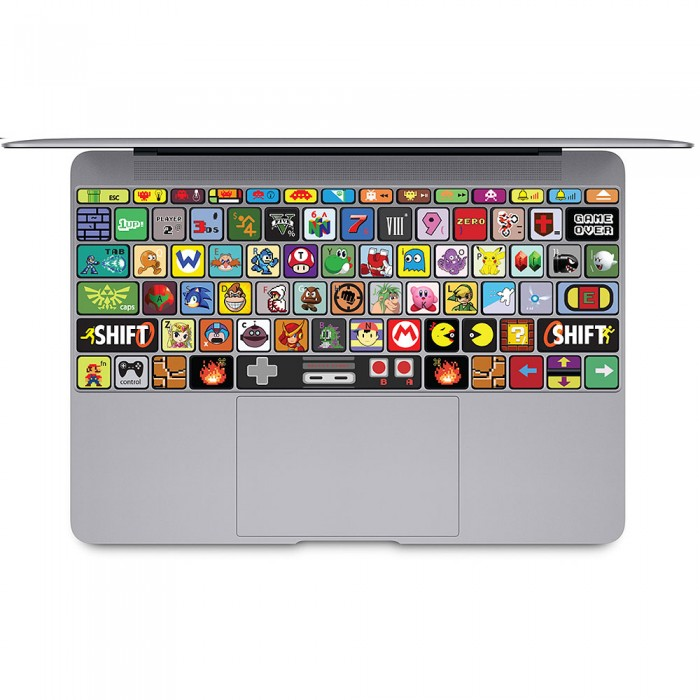 nintendo spiele tastatur aufkleber f r macbook. Black Bedroom Furniture Sets. Home Design Ideas