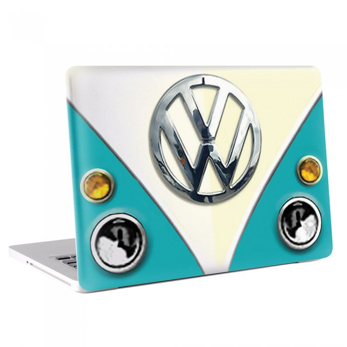 VW T1 Bus - Blue MacBook Skin / Decal  (KMB-0017)
