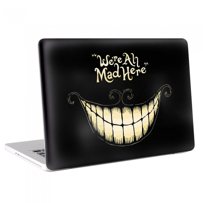 Cheshire Cat We are All Mad Here MacBook Skin / Decal  (KMB-0043)