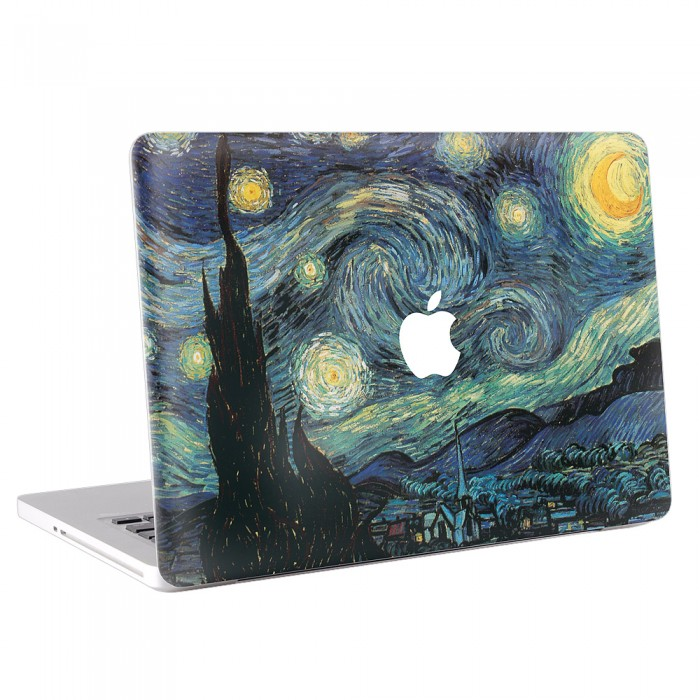 Starry Night - Vincent van Gogh MacBook Skin / Decal  (KMB-0045)