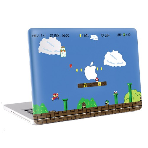super mario world macbook skin aufkleber. Black Bedroom Furniture Sets. Home Design Ideas
