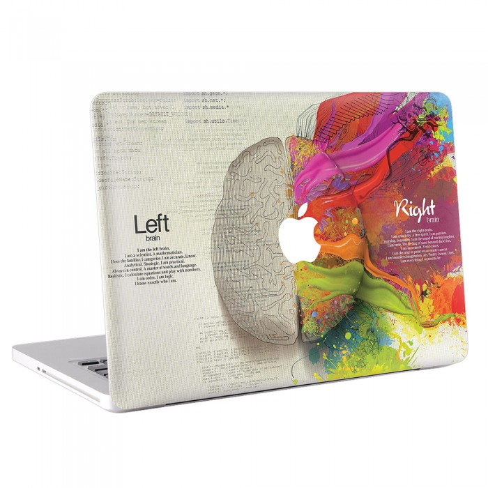 Left Right Brain Creative MacBook Skin / Decal  (KMB-0071)