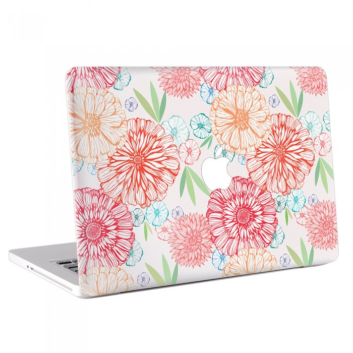 Flower Vintage Version 1 MacBook Skin / Decal  (KMB-0074)
