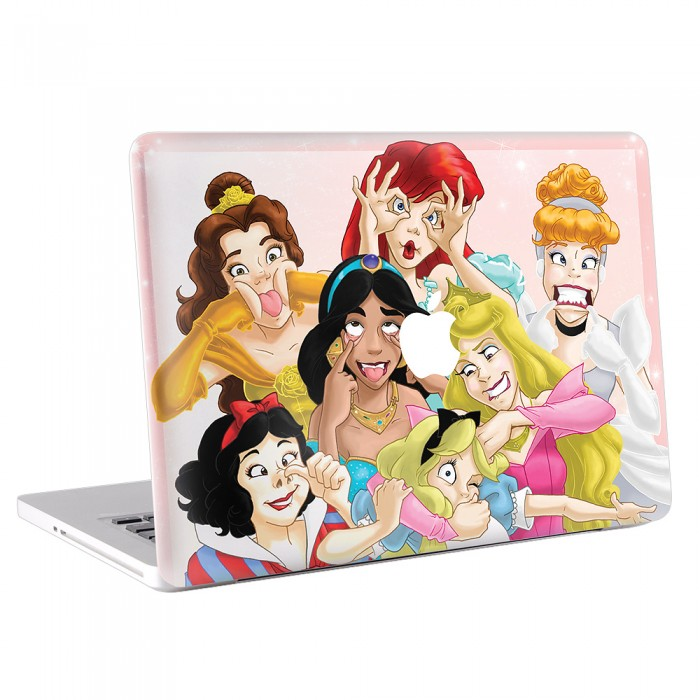 Funny Disney Princesses MacBook Skin / Decal  (KMB-0081)