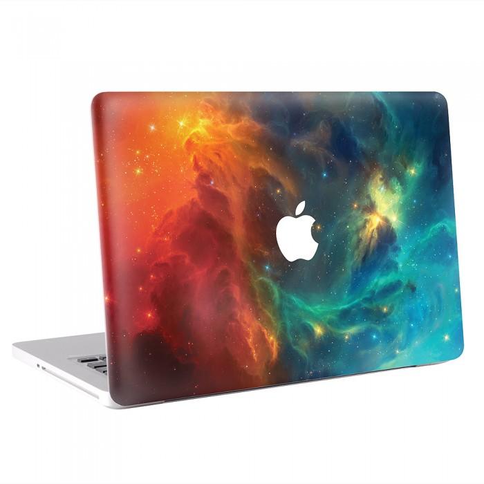 Orange and Blue Space MacBook Skin / Decal  (KMB-0087)
