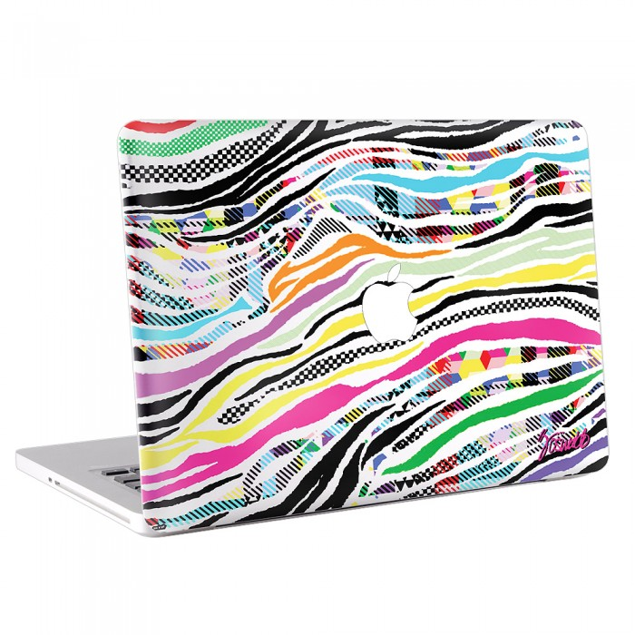 Colorful Zebra MacBook Skin / Decal  (KMB-0088)