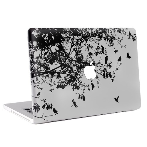 Floral and Bird Apple MacBook Skin / Decal